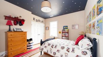 Натяжные потолки в детскую комнату: лучшие примеры оформления