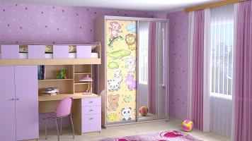 Шкаф-купе в детской комнате: весело и практично