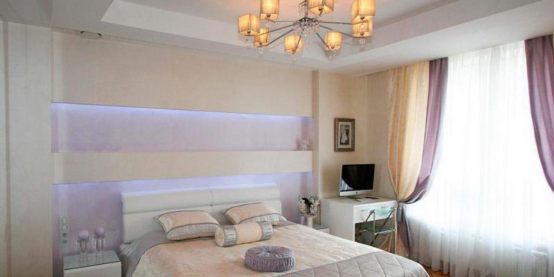 Натяжные потолки в спальне: 50 идей дизайна