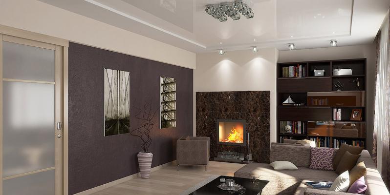 Натяжные потолки для зала: какой дизайн выбрать?