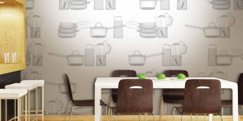 обои для кухни современные фото