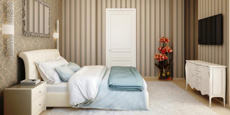 Комбинированные обои в спальню: идеи дизайна