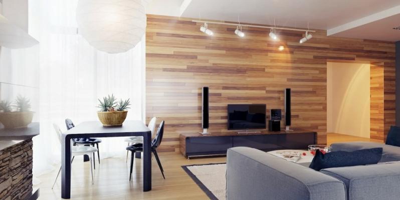 Ламинат на стене в интерьере: примеры оформления