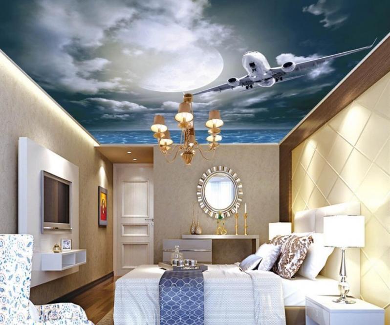 красивые рисунки потолки натяжные