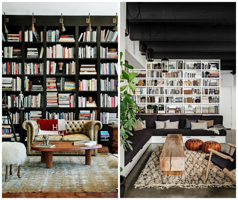 Книжные шкафы и библиотеки для дома: фото в интерьере.