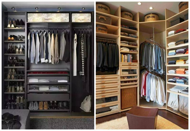 Наполнение для шкафов-купе и гардеробных: фото внутри и сове.